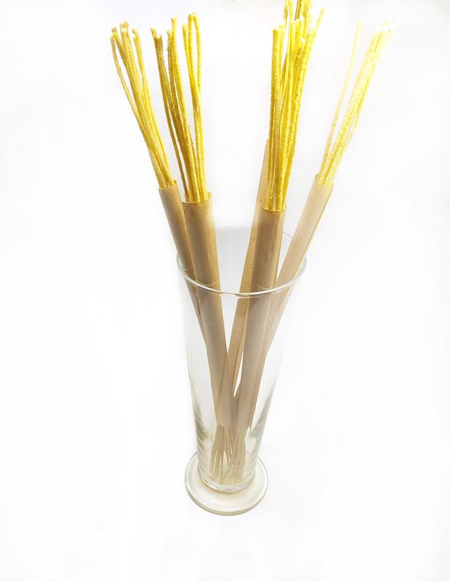 Фитиль вощеный 3 метра (10 шт по 30 см) для свечей из вощины