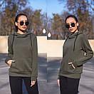 Женское худи на флисе с капюшоном и карманом 11sv770, фото 5
