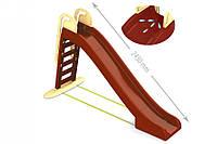 Горка большая для катания детей (коричневая с бежевыми вставками) 243 см 014550/12 (Ф) (шт.)