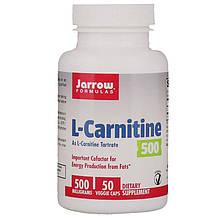 "L-карнітин Jarrow Formulas ""L-Carnitine"" 500 мг (50 капсул)"