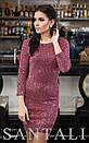 Платье по фигуре из люрекса с пайетками и рукавом 3/4 45py475, фото 5