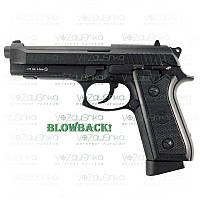 Пневматический пистолет беретта 92 (Beretta 92fs) kwc kmb-15 blowback full metal, фото 1