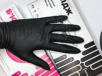 Перчатки чёрные нитриловые XS