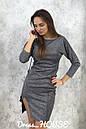 Платье из мерцающего трикотажа с разрезом на ноге и рукавом 3/4 5py491, фото 2