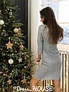 Платье из мерцающего трикотажа с разрезом на ноге и рукавом 3/4 5py491, фото 5