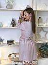 Платье из люрекса с верхом на запах и расклешенной юбкой 5py492, фото 6