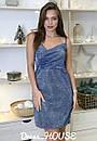 Платье - майка из люрекса с верзом на запах 5py495, фото 2