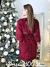 Платье на запах из трикотажа травки с рукавом 3/4 5py496, фото 3