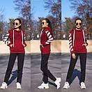 Женский утепленный флисом спортивный костюм с худи 11so819, фото 4