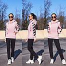 Женский утепленный флисом спортивный костюм с худи 11so819, фото 5