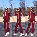 Женский утепленный флисом спортивный костюм с худи 11so819, фото 7