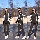 Женский утепленный флисом спортивный костюм с худи 11so819, фото 8