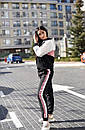 Женский спортивный костюм с худи и контрастными вставками 58so823, фото 3