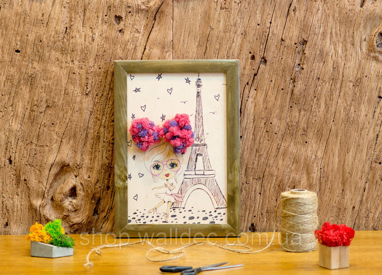 Картина по номерам со мхом Париж 290Х210 мм
