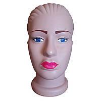 Манекен женская голова с макияжем из пластмассы