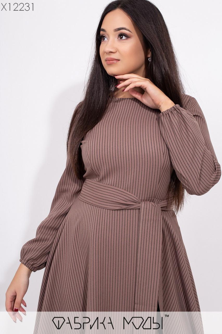 Платье в больших размерах с пышной юбкой и длинным рукавом 1ba428