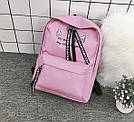 Рюкзак с лентами и ушками(ушки)Cat (черный, серый, розовый), фото 3