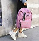 Рюкзак с лентами и ушками(ушки)Cat (черный, серый, розовый), фото 7