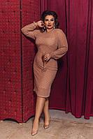 Женское нарядное мини платье  приталенного силуэта, размеры 48-58