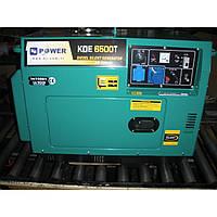 Однофазный дизельный генератор KJ Power KDE6500T (5 кВт)