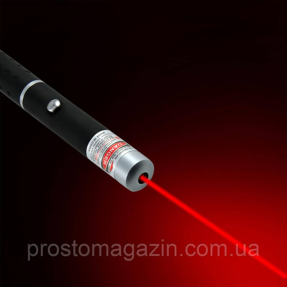 Лазерная указка, Лазер красный, светит красной точкой