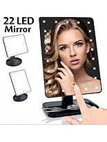Сенсорное LED Зеркало тройное для макияжа С подсветкой 22 лампы, фото 2