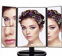 Сенсорное LED Зеркало тройное для макияжа С подсветкой 22 лампы, фото 3