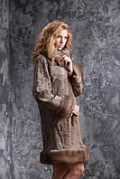 Пальто из каракульчи Svakara со съемной опушкой из куницы