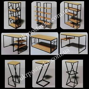 Мебель LOFT (ЛОФТ) из дерева и металла ТМ LAND BRICK