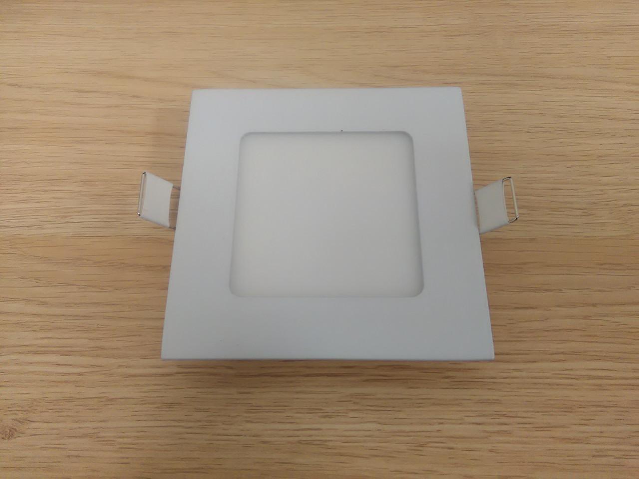 Светильник врезной LED  Downlight  6W 6400K  размер 120*120 мм  квадратный  алюминиевый корпус