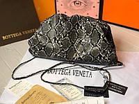 Стильная женская сумка Pouch Bottega Veneta под кожу змеи, фото 1