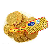 Only Конфеты Шоколадные Монеты сетка 100 г Австрия