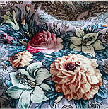 Тайна сердца 1437-1, павлопосадский платок шерстяной с шелковой бахромой, фото 2