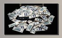"""""""Доллары 2"""" Картина на холсте для интерьера"""