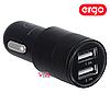 Автомобильное зарядное устройство ERGO ECC-221 2.1A 2xUSB Car Charger Black