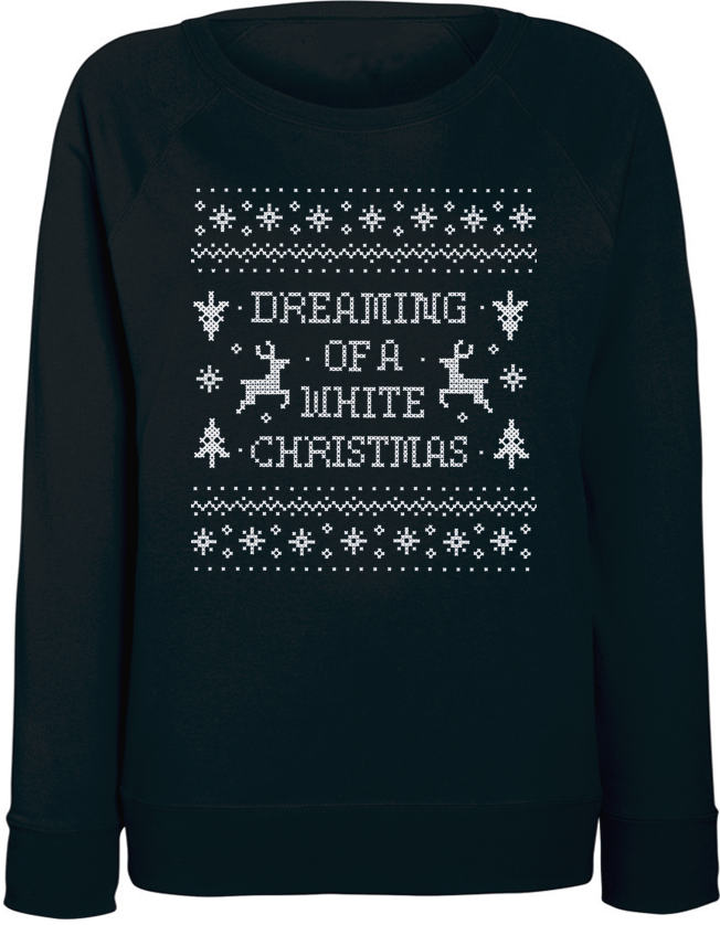 Женский свитшот Dreaming Of A White Christmas (чёрный)