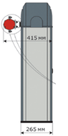 Комплект шлагбаума - ASB6000. Стрела КРУГЛАЯ 6,3 м.