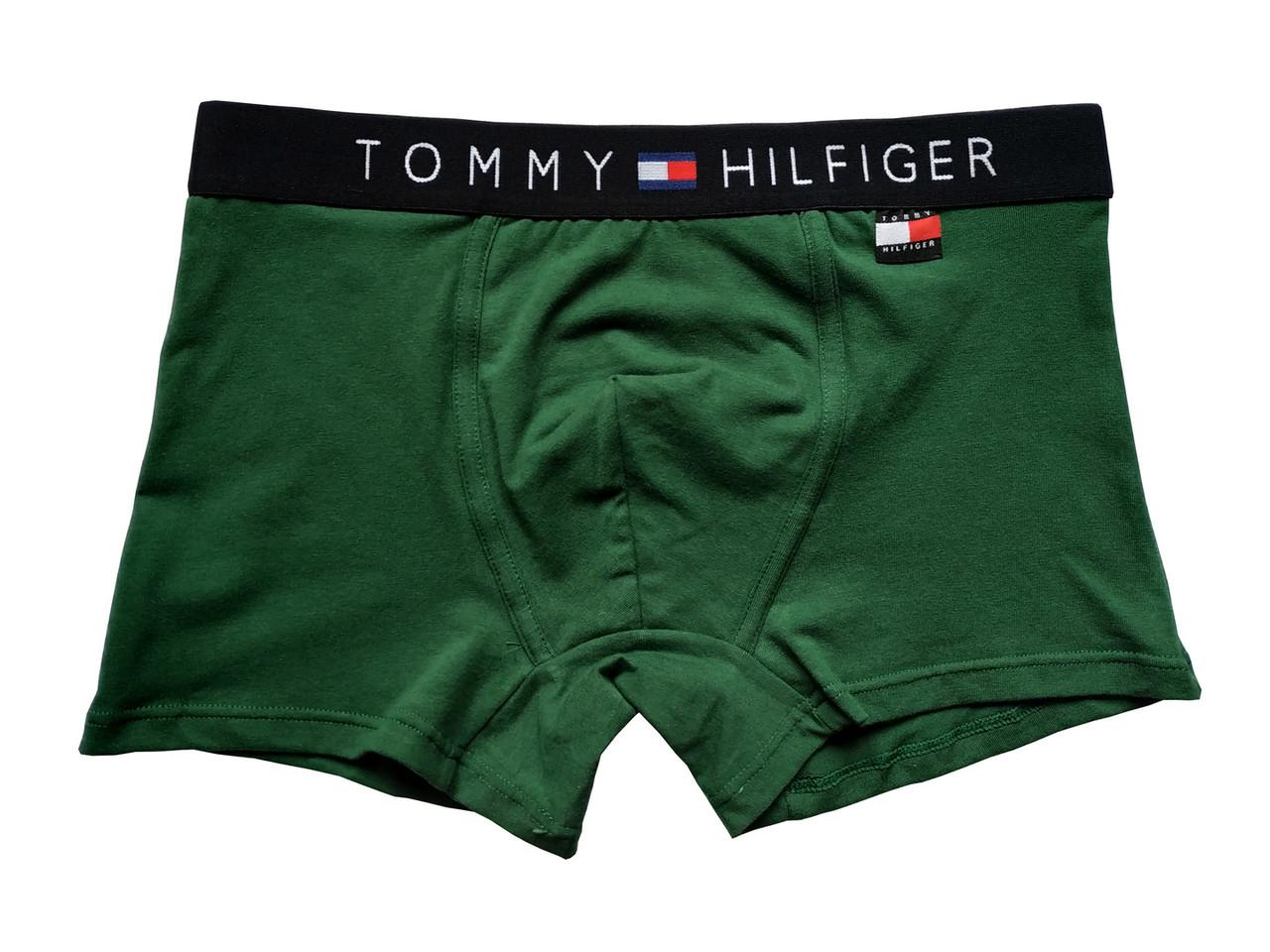 Мужские трусы Tommy Hilfiger (реплика) бирка зеленые
