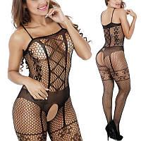 Сексуальный комбинезон MORGAN ,Сексуальное боди сетка, Сексуальное эротическое женское белье