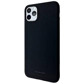 Чехол Silicone Hana Molan Cano Apple iPhone 11 Pro Max (black)