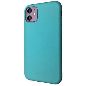 Чехол Silicone Hana Molan Cano Apple iPhone 11 (mint)