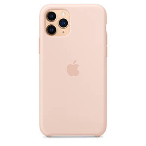 Чехол-накладка Silicone Case original для Apple iPhone 11 Pro (pink sand)