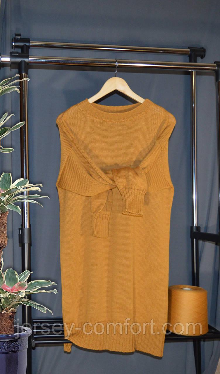 В'язане плаття з мериноса. Сукня оверсайз