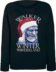 Женский свитшот Game Of Thrones - Walker In A Winter Wonderland (чёрный)