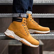 Ботинки чоловічі зимові рудого кольору, фото 3