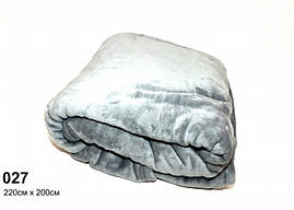 Плед темно-серый махровый(под велюр),мягкий и нежный 220см × 200 см