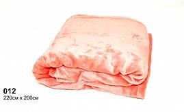 Плед персиковый махровый(под велюр),мягкий и нежный 220см × 200 см