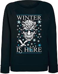 Женский свитшот Game Of Thrones - Winter Is Here (чёрный)