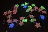 Гирлянды разноцветные звездочки 28 больших led лампочек, фото 3