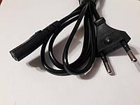 Сетевой шнур для люминесцентных светильников, радио и т.п.  1.5м. черный